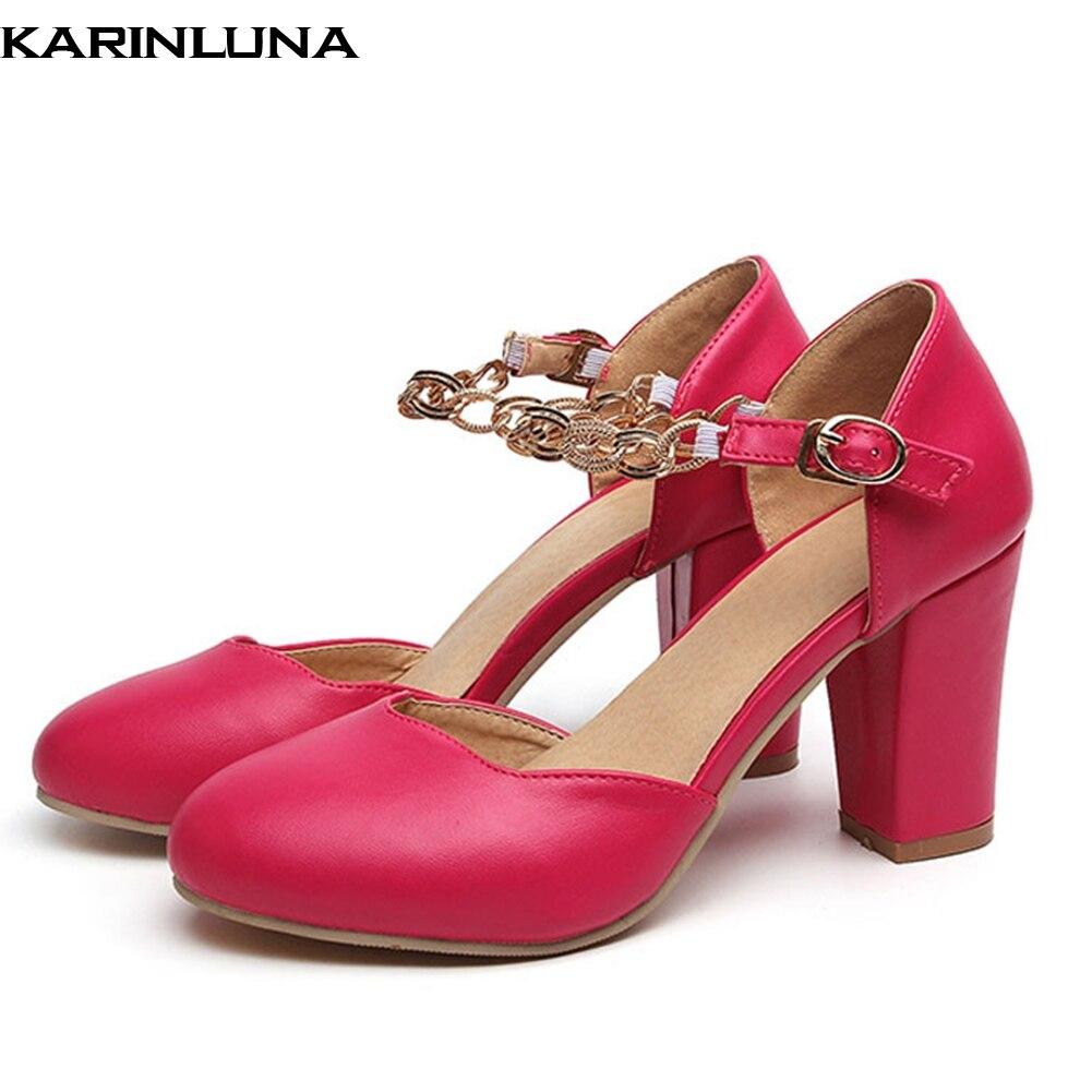 Karinluna a estrenar más tamaño 32-50 señoras tacones altos mujeres zapatos mujer casual fiesta Oficina verano Mujer sandalias