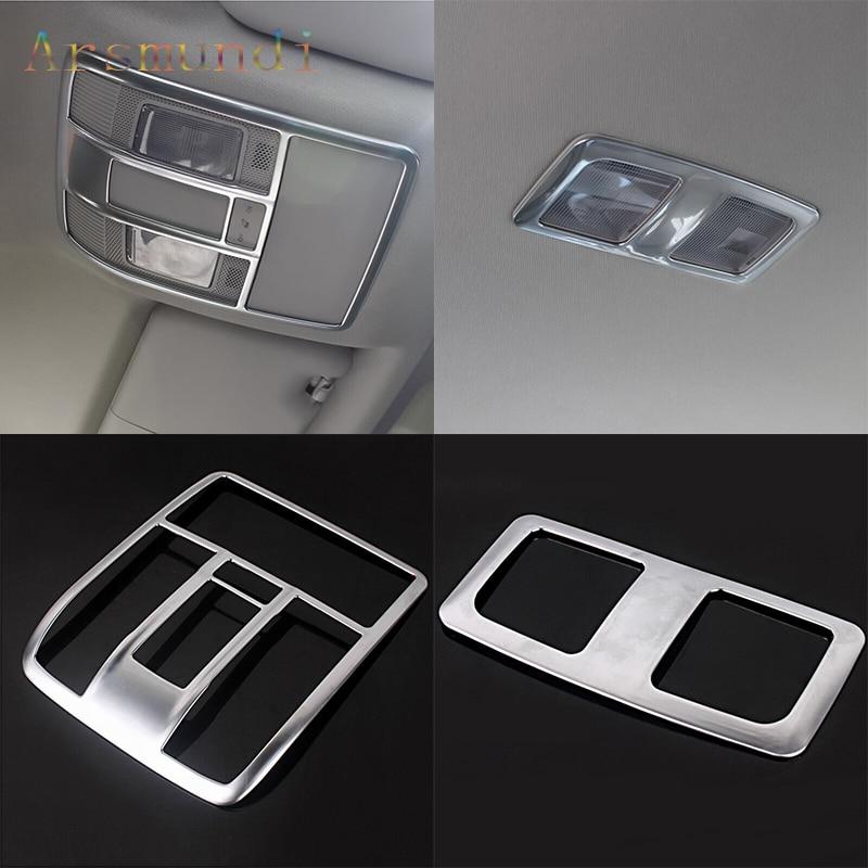 Accesorios de coche para Mazda CX-5 CX5 2012-2016 ABS cromo frontal interior luces de lectura trasera cubiertas de molduras 2 uds
