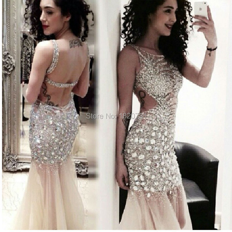 Feito sob encomenda 2020 vestido de baile de cristal puro vestido de noite longo aberto voltar vestidos de baile sexy vestido de noite de gala longo
