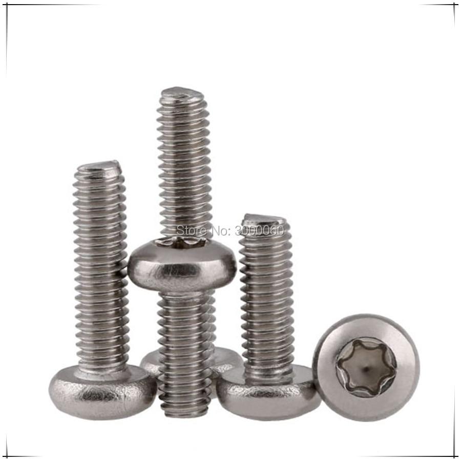 Купить с кэшбэком M2 M2.5 Stainless Steel A2 304 Torx Pan Round Head Machine Screws 1000pcs/lot