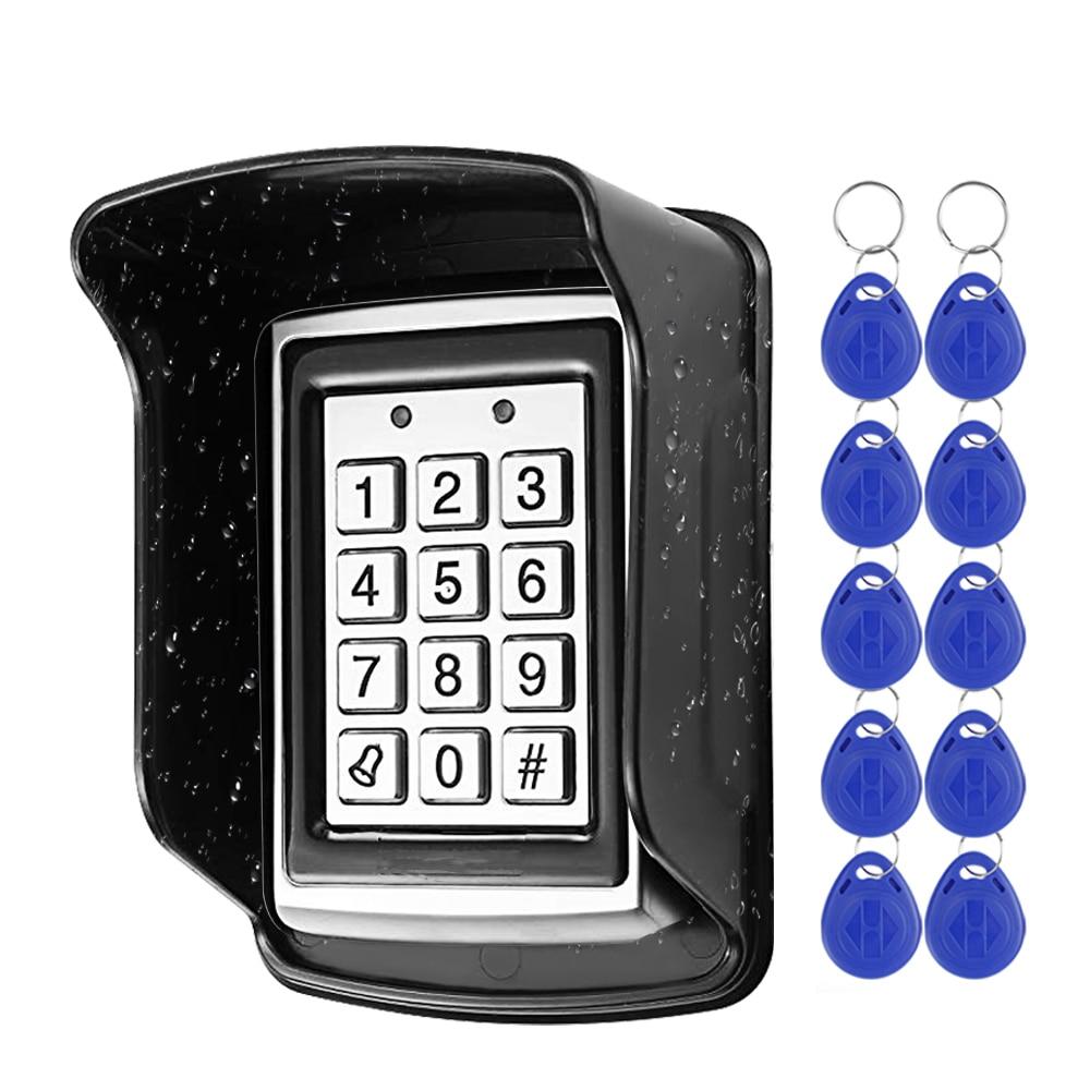 RFID Metal Access Control Keypad Waterproof Rainproof Cover Outdoor Door Opener Electronic Lock Syst