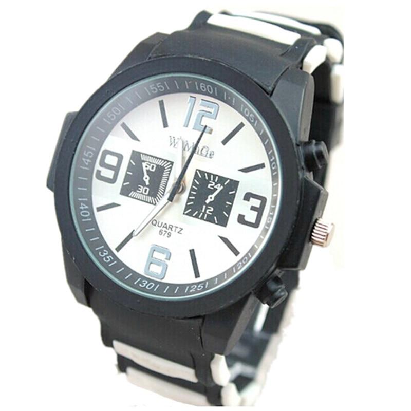 womage luxury brand fashion watch black colored design strap sports quartz analog men military silicone women watch Relojes