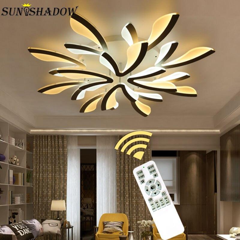 Акриловые Современные светодиодные люстры, креативные потолочные светильники для гостиной, спальни, кухни с поверхностным креплением