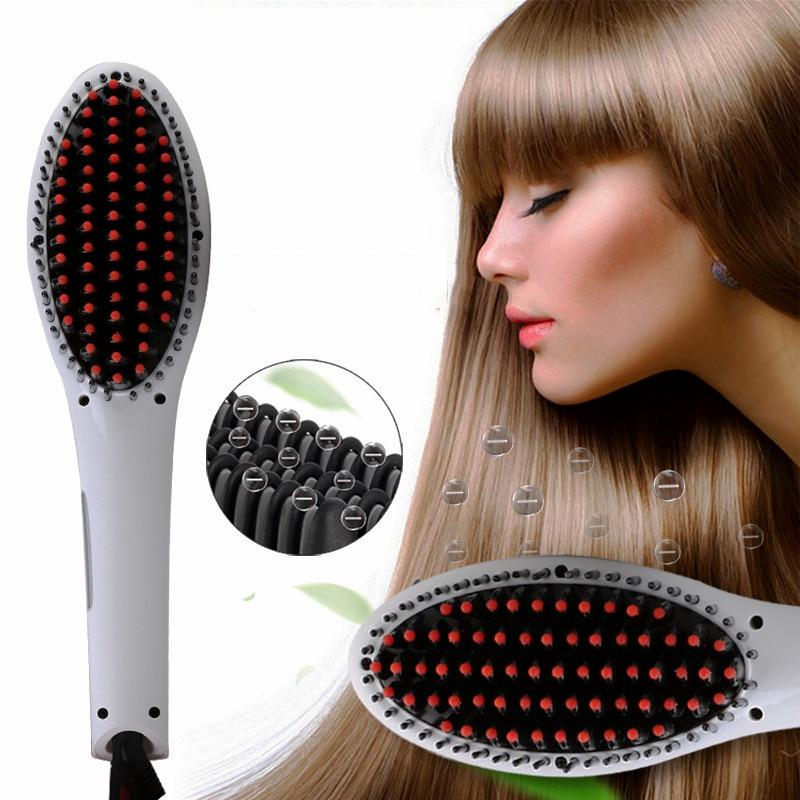 LED display straight steam hair straight for women hair comb ceramics Electric Hair Styling Brush Ionic Hair Straightener Brush
