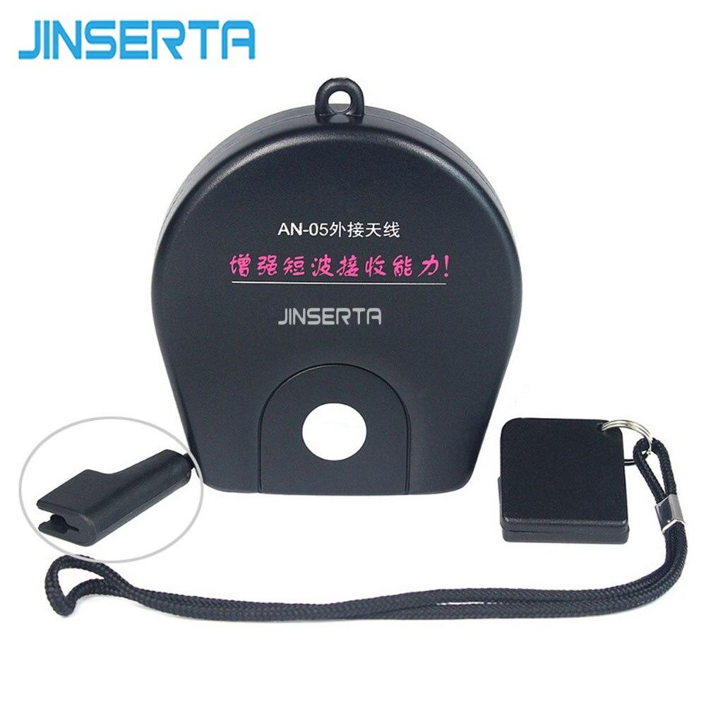 Jinserta antena an05 fm/sw receptor de rádio antena externa clipe banda rádio para tecsun PL-310ET PL-660 PL-380 PL-606 PL-505