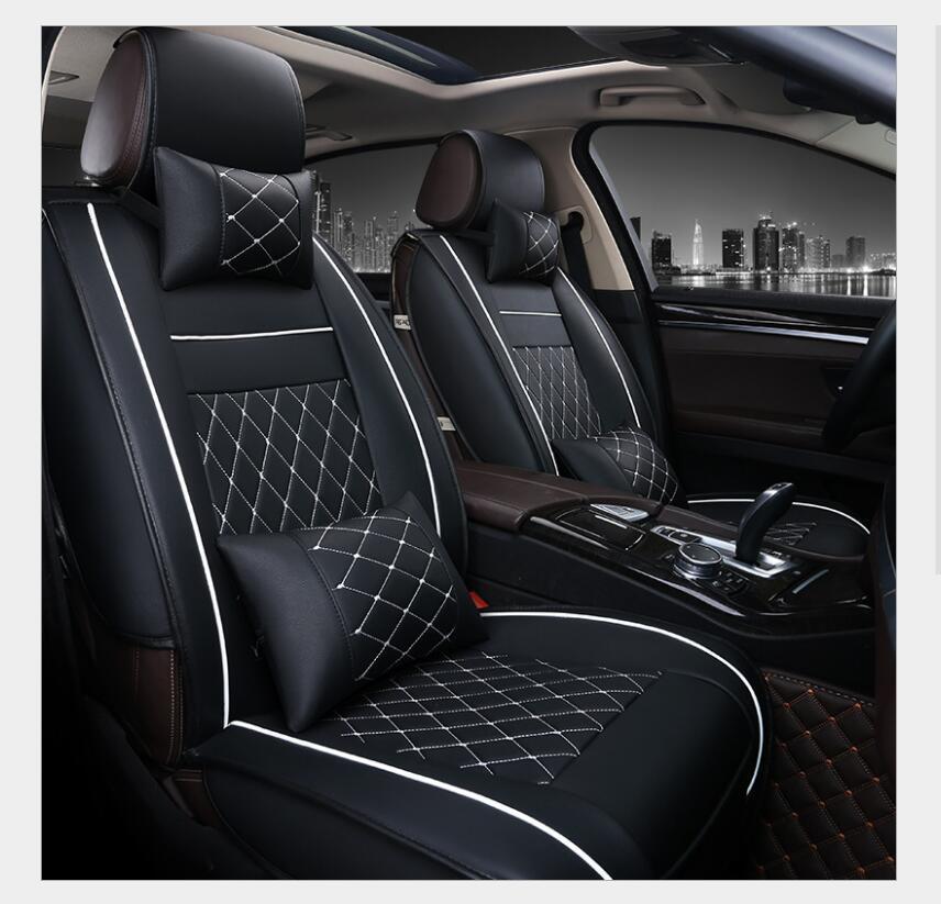 Universal PU tampa de assento do carro de Couro para Audi A6L R8 Q3 Q5 Q7 S4 RS Quattro A1 A2 A3 A4 A5 A6 A7 A8 auto acessórios do carro adesivos