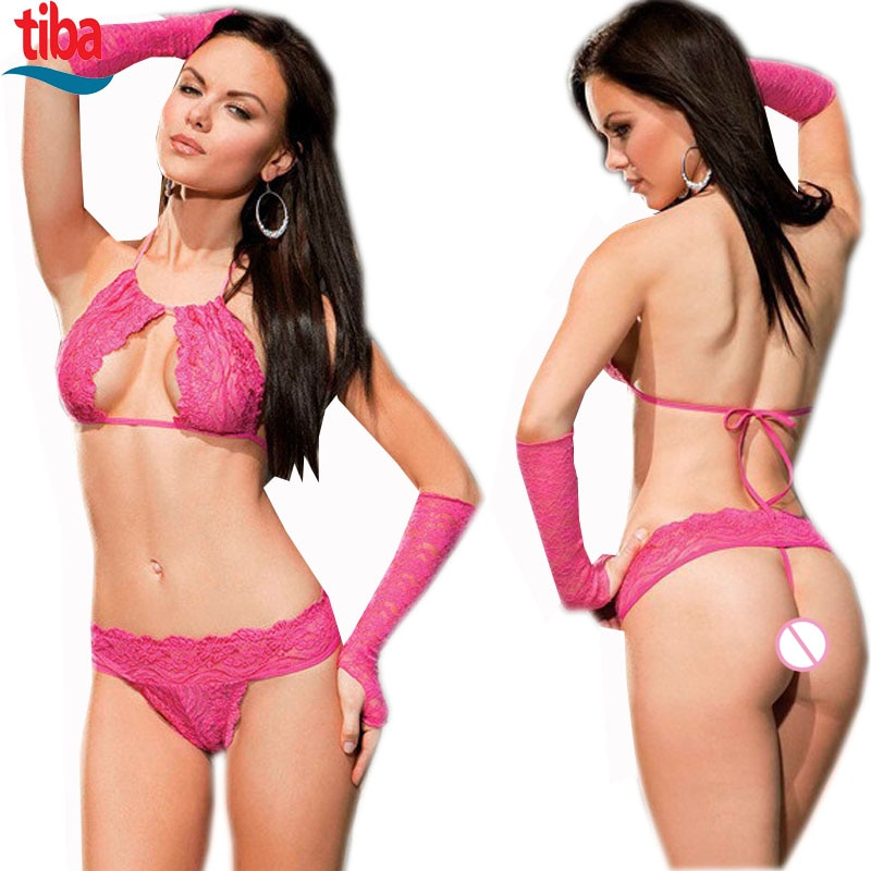 1 Set Sexy Lingerie Hot  Underwear Lace Set Erotic Lingerie+G-string Sexy Costumes Novelty Special U