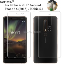 For Nokia 6.1 / 6 (2018) 2nd Nokia6 Soft TPU Front Back Full Cover Screen Protector Transparent Prot