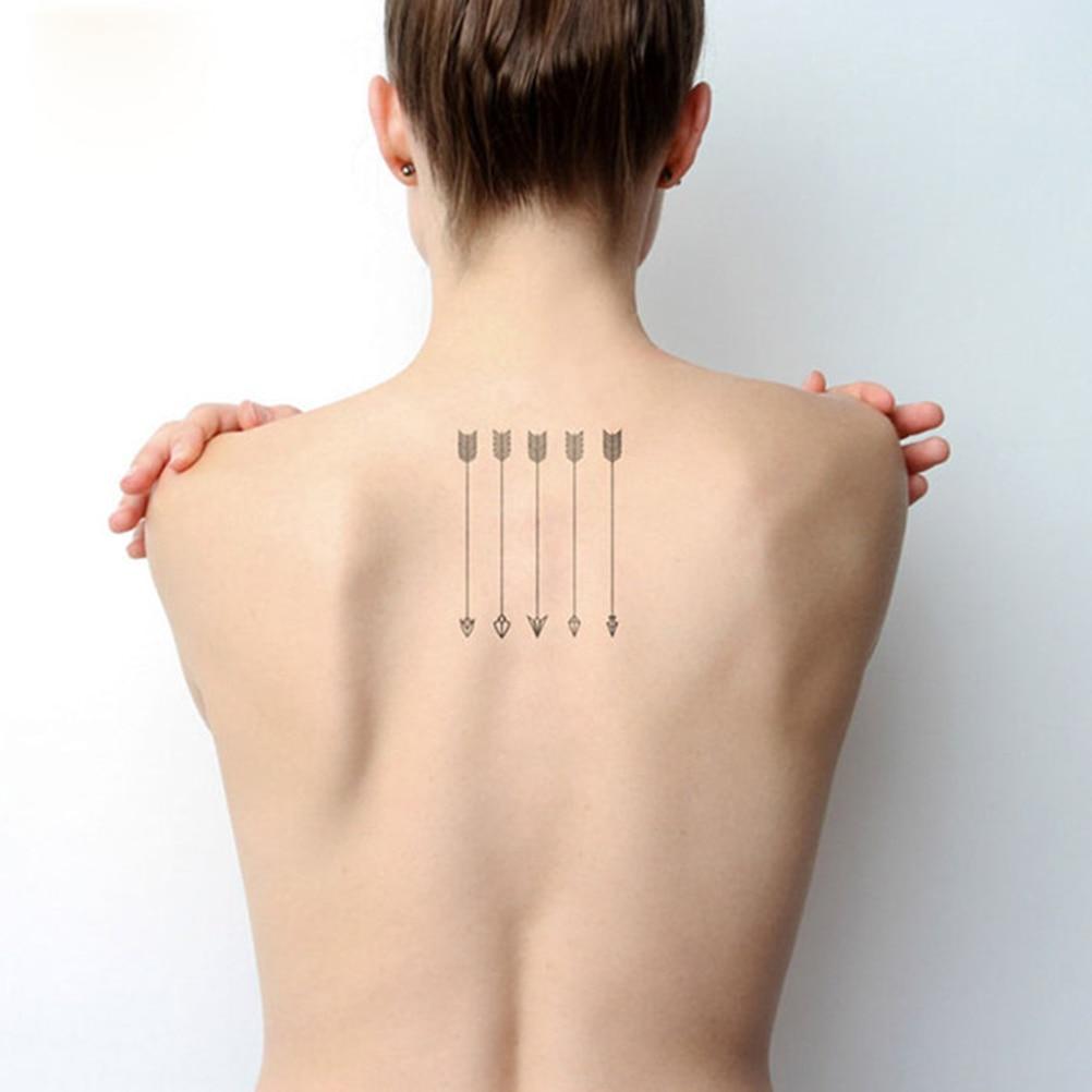 Amantes Harajuku tatuaje de imitación resistente al agua hombre mujeres brazo tatuajes diseño de flechas falso tatuaje temporal