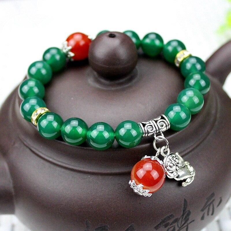 Ювелирные изделия натуральный бисер из зеленого нефрита браслеты с стерлингового серебра 925 пробы браслет для женщин ювелирные изделия из ...