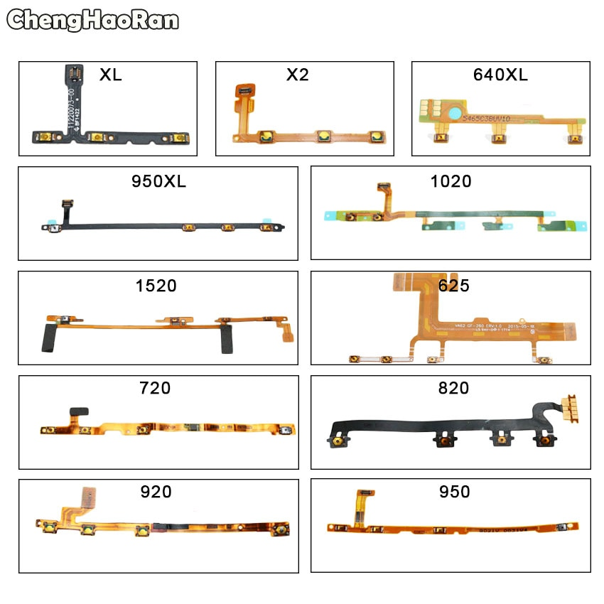ChengHaoRan кнопка включения/выключения питания гибкий кабель для Nokia Lumia XL X2 RM-1013 625 640XL 720 820 920 950 950XL 1020 1520