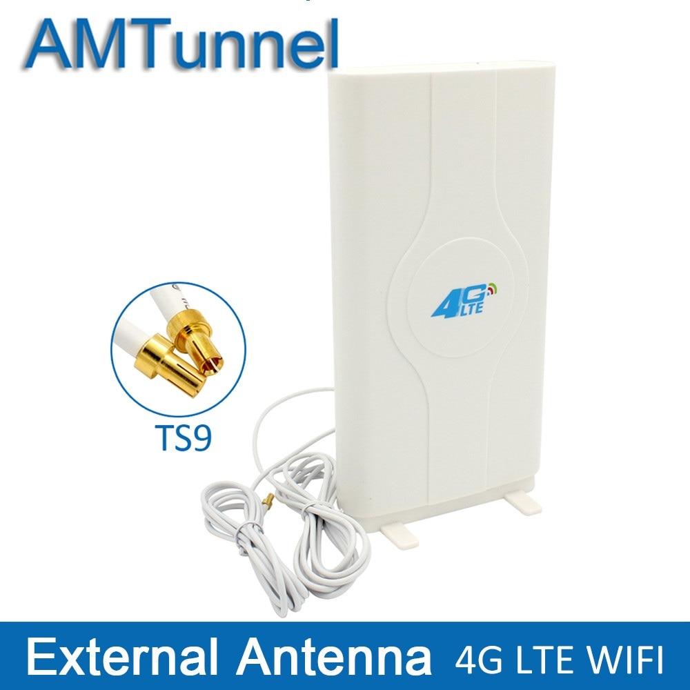100% 11dbi 10m sma lte 4g 3g antenna lte 3g 4g outdoor antenna ldp panel antenna booster antenna for huawei e5172 b593 e5776 3G 4G LTE Antenna 4G MIMO antenna TS9 External Panel Antenne CRC9 SMA Connector 2m for Huawei E8372 E3372 B315 router modem