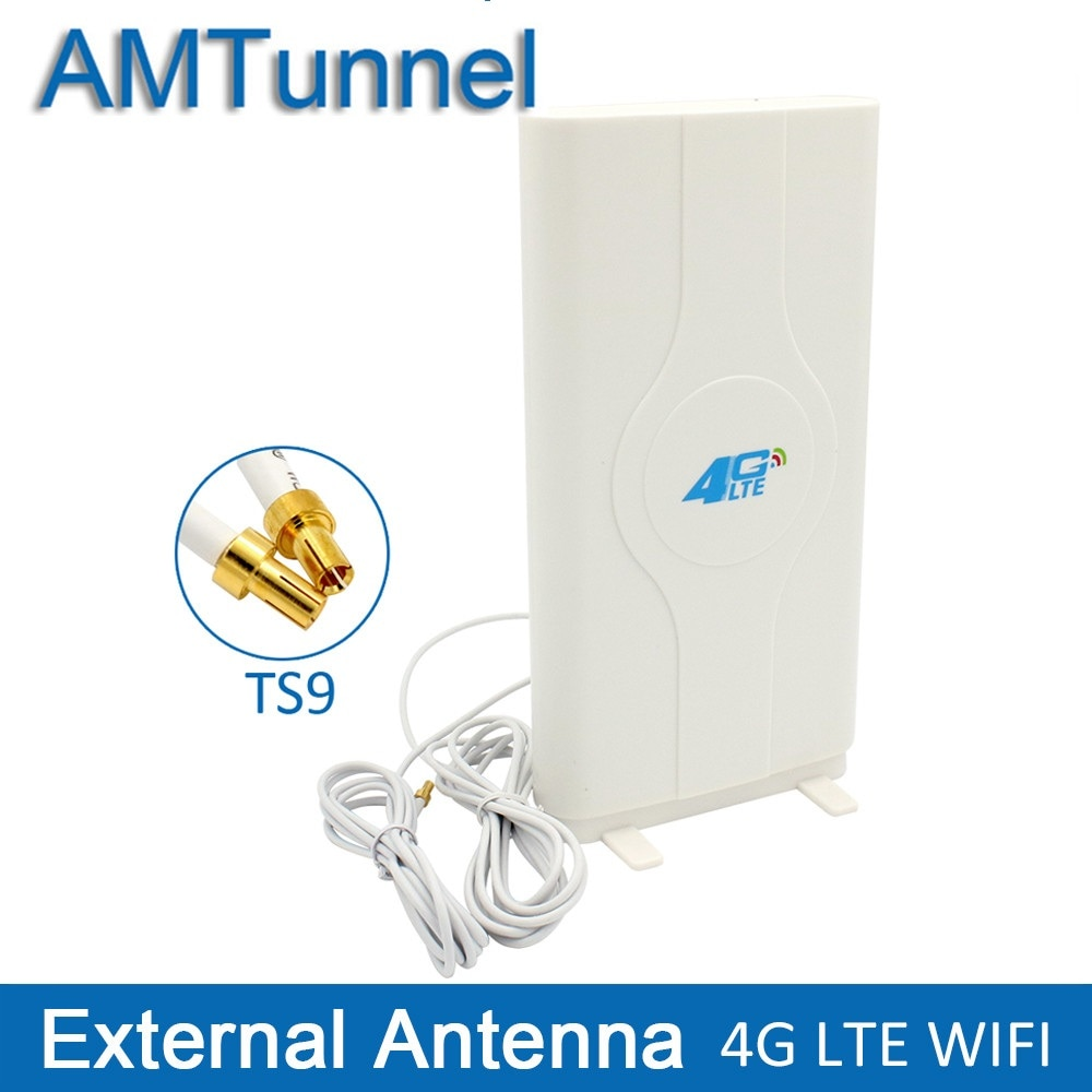 Антенна 3G 4G LTE 4G MIMO антенна TS9 Внешняя панельная антенна CRC9 SMA разъем 2 м 700-2600 МГц для 3G 4G Huawei роутер модем