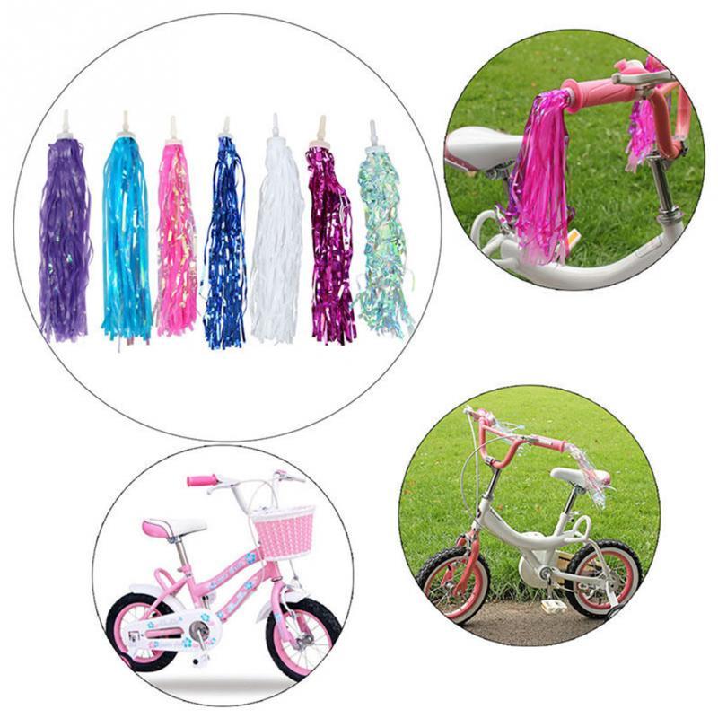 Цветной велосипедный руль для трехколесного велосипеда, с кисточками, 2 шт.