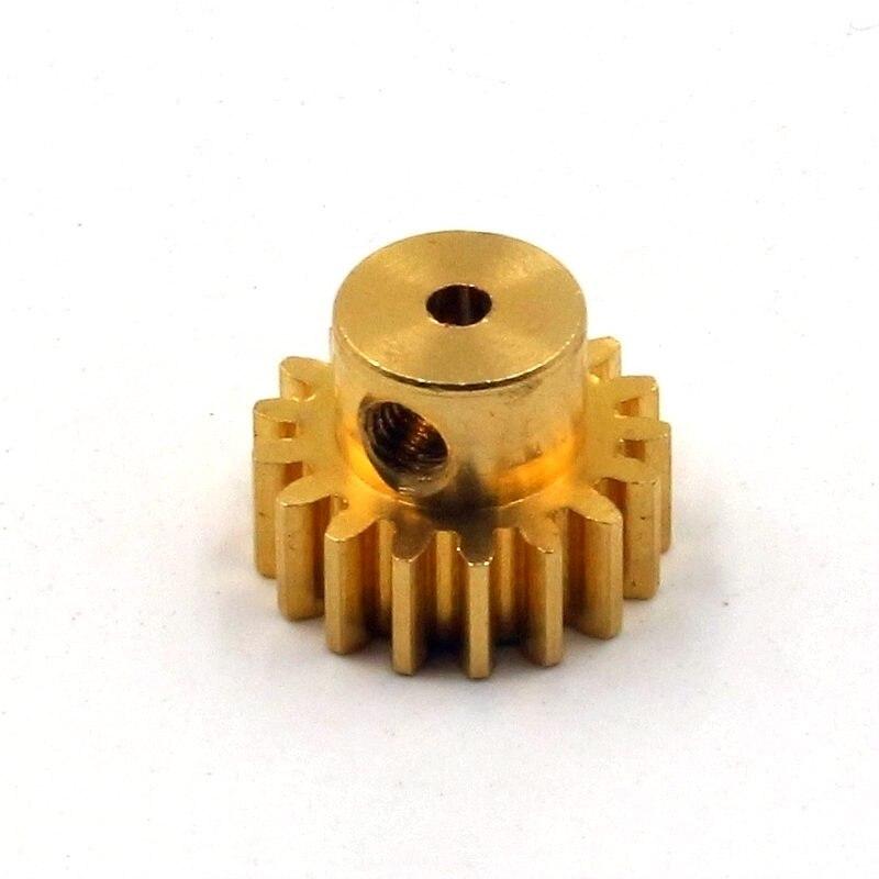 FATJAY 17T engranaje, Piñón de latón, diámetro del agujero central 2,0mm M0.7 para coches de control remoto HSP WLtoys A949 A959 A969 A979, accesorio de metal de actualización