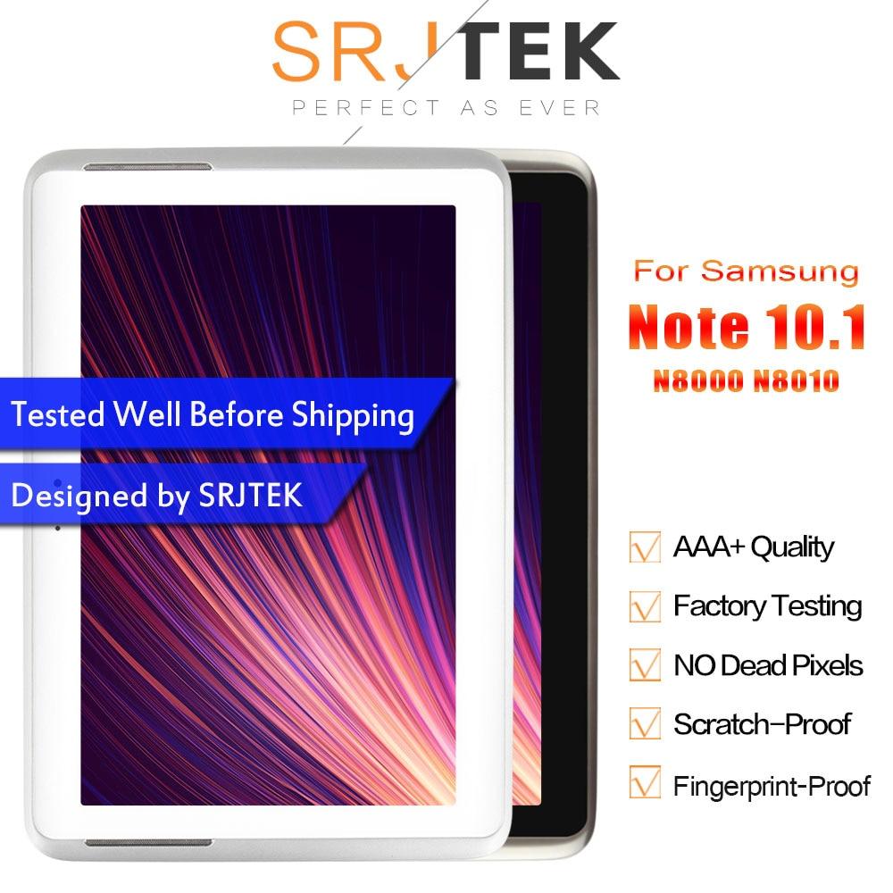 SRJTRK для Samsung Galaxy Note 10,1 GT-N8000 N8000 N8010 ЖК-дисплей Матрица сенсорный экран дигитайзер сенсор в сборе с рамкой