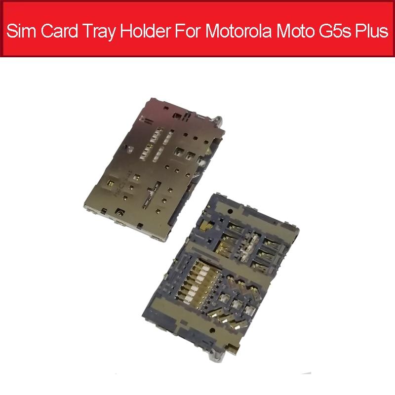 Adaptateur de plateau de carte Sim pour Motorola Moto G5s Plus prise de lecteur de carte SIM pour Samsung A310 A510 A710 / A3 A5 A7 2016 remplacement
