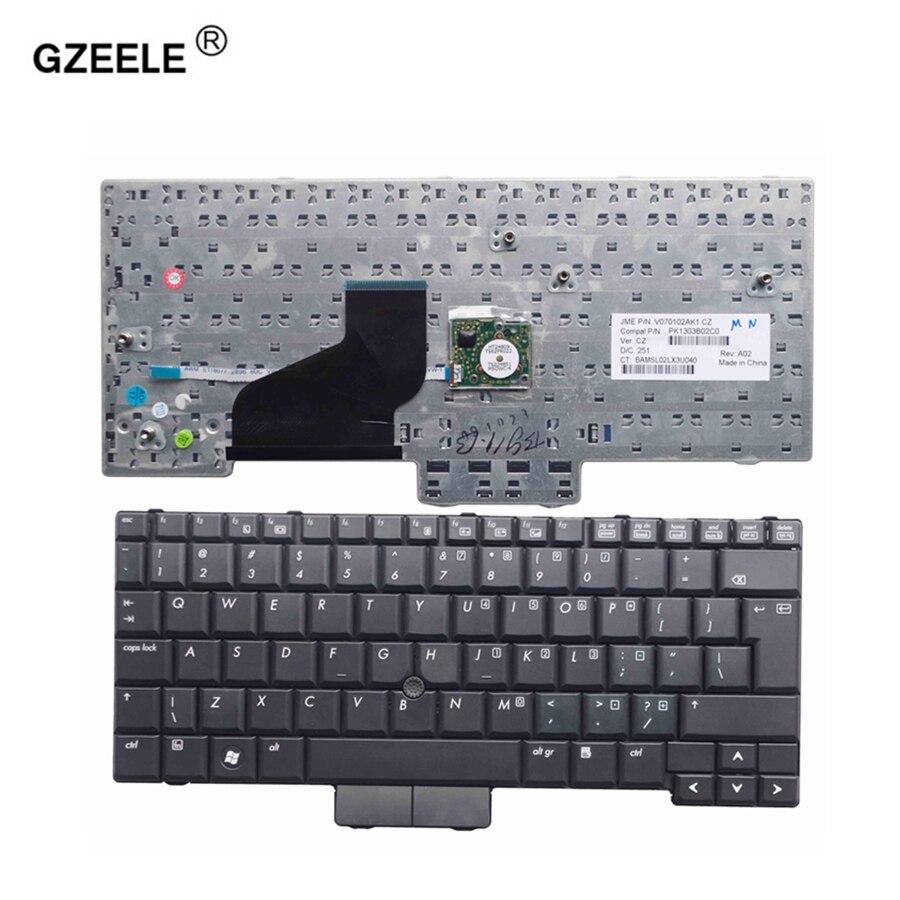 Клавиатура для ноутбука GZEELE для HP 2530 2530P 2533T новая клавиатура черная новая английская раскладка UI с направляющими палками