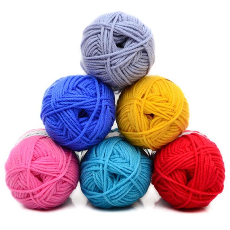 5 pçs/lote macio grosso leite algodão mão tricô fio de algodão bebê chunky fio de algodão para a mão tricô leite natural fio de algodão crochê