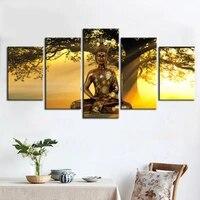 Moderne paysage toile impression moderne mode mur Art les arbres de bouddha dans le soleil couchant pour la decoration de la maison pas de cadre