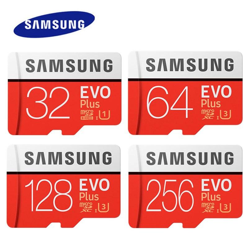 SAMSUNG EVO Plus de 512GB 256GB de tarjeta de memoria 128GB 64GB U3 4K tarjeta Micro SD 32GB U1 SDHC Microsd UHS-I C10 TF Trans Flash Microsd