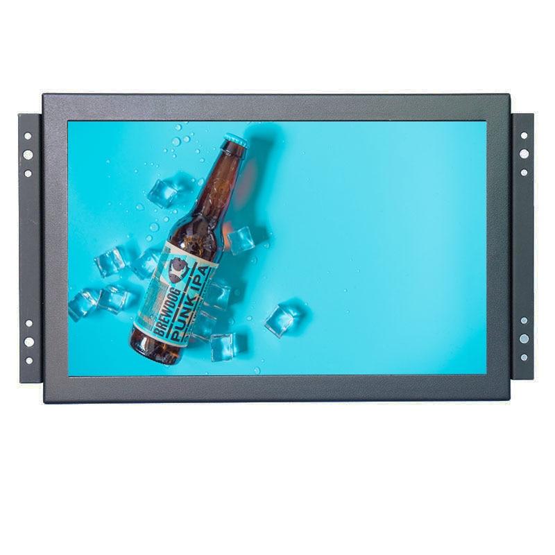 Monitor de pantalla táctil capacitiva de 10 puntos, monitor de pantalla táctil industrial PCAP 1280*800 con interfaz AV/BNC/VGA/HDMI/USB