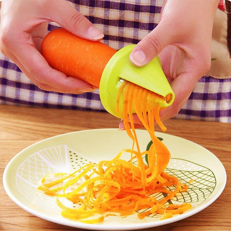 Овощерезка, овощерезка, кухонный инструмент, для овощей и фруктов спиральная градусов, зеленый цвет
