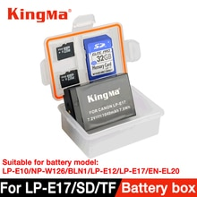 KingMa 5 pièces boîtier en plastique porte-boîte de rangement pour appareil photo reflex numérique batterie LP-E10/NP-W126/BL-N1/LPE12/LP-E17/EN-EL20/EN-EL12/NB-12L