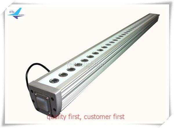 Envío gratis 2 unids/lote Escenario al aire libre barra lineal Wash LED de pared 36X3W LUZ DE PAISAJE impermeable RGB IP65 DMX Floorlight