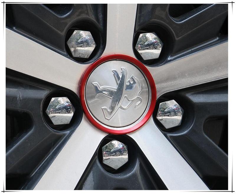4 pcs/lot Car Decal Wheel Center Hub caps Rim Caps Auto Stickers Car Styling Decoration For Peugeot 4005 5005 Auto Accessories