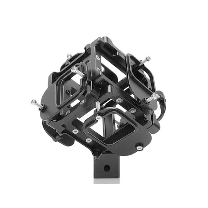 Panorâmico de Alumínio para Câmera Sistema de Tiro em Vídeo para Gopro Acessórios da Câmera de Ação Panorâmico de 6 Suporte Posições Graus Hero5 6 7 720 vr
