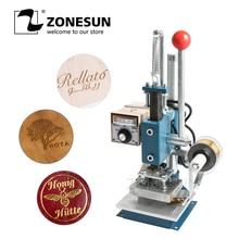 ZONESUN 8 x 10cm Expiry Date Leather Paper Plastic LOGO Hot Foil Stamping Embossing Machine Heat Press Machine Punch Press