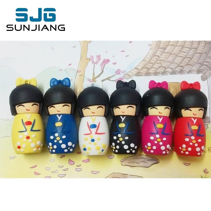 usb flash drive 64g pen drive 32g pendrive 16g 8g 4g Japanese doll toy beauty girl Usb2.0 pendrive