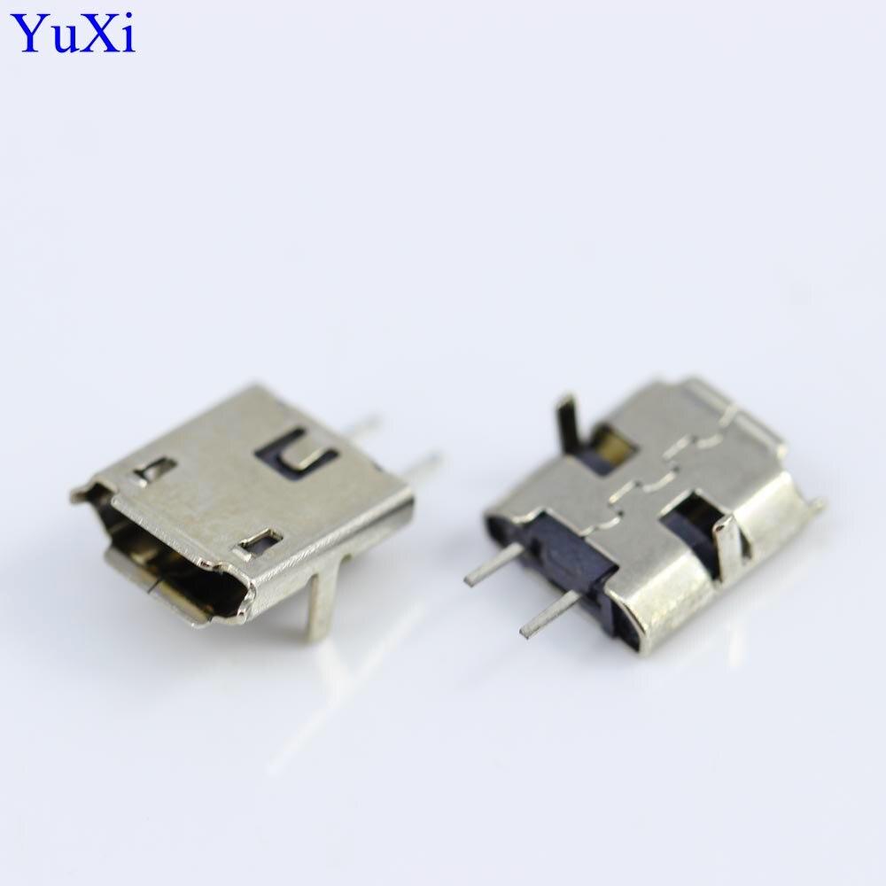 MICRO USB 2P, enchufe hembra Mike de 2 pines V8, enchufe de teléfono Android, puerto de carga de dos pines, miniconector Micro USB de 2 pines