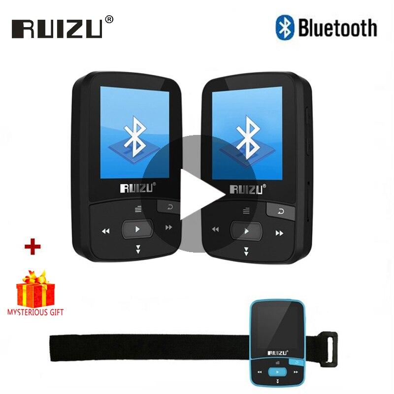 Ruizu deporte de Audio Mini Bluetooth Mp3 la música reproductor de Audio Mp 3 DE Mp-3 con Radio Digital Hifi alta fidelidad pantalla Fm Flac 8gb Clip para