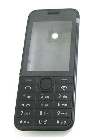 Carcasa carcasa teclado y cubierta de la tapa de la batería para Nokia 208 N208 blanco negro rojo
