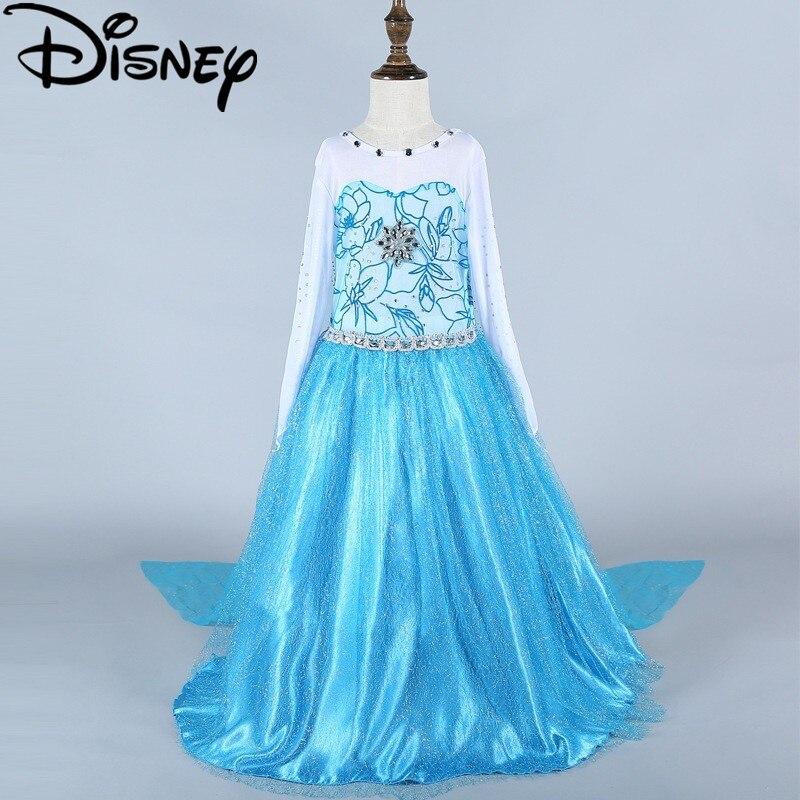 Vestido de Disney verde elsa niñas frozen disfraces nieve reina cosplay niños ropa vestido infantil fantasía Navidad disfraz princesa
