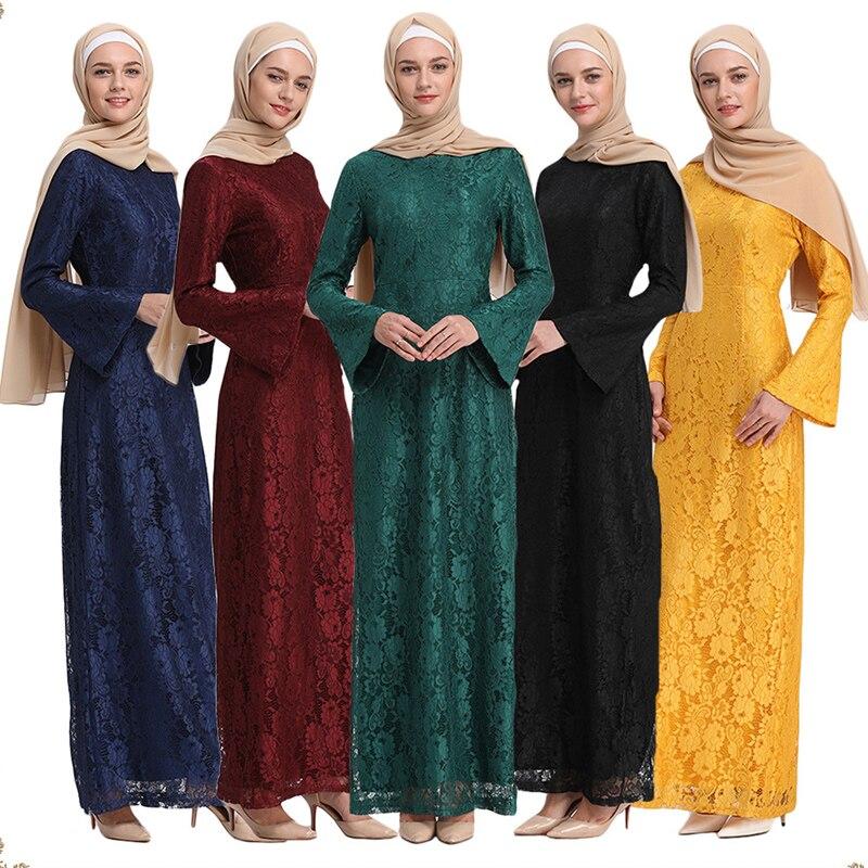 Abaya dubai islam qatar laço árabe muçulmano hijab vestido jilbab kaftan abayas para mulher caftan vestidos de vestuário islâmico turco