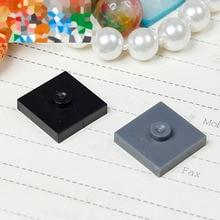 Éléments brique pièces 87580 plaque modifiée 2x2 avec rainure et 1 goujon pièce classique bloc de construction jouet accessoire Bricklink No.516