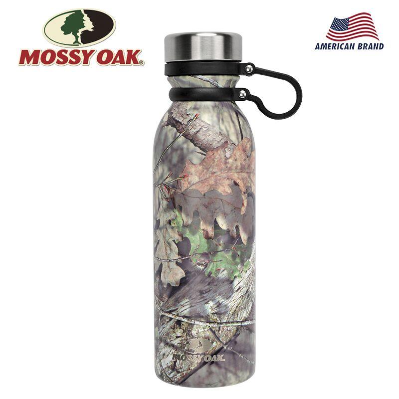MOSSY OAK, 20,5 Oz, botella de agua con aislamiento al vacío, de acero inoxidable, boca ancha, a prueba de fugas, doble pared, botella en forma de Cola, Camuflaje