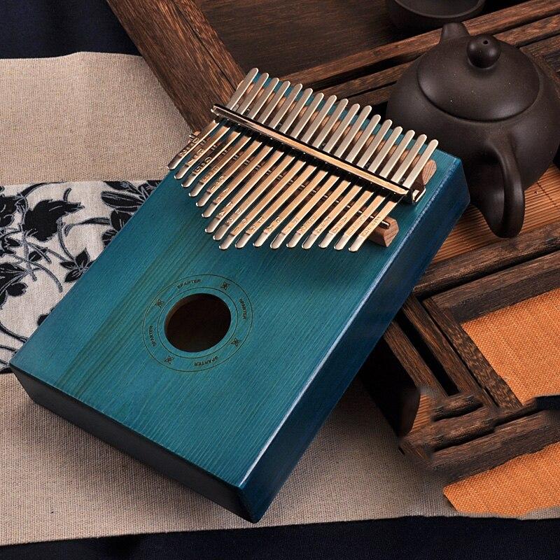 17 Key Kalimba African Solid Mahogany Thumb Finger Piano Sanza 17 keys Solid Wood Kalimba Mbira Thumb Kalimba enlarge