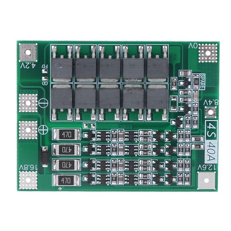 Equilibrio 4S40A batería de litio Li-ion 18650 cargador Placa de protección BMS carga equilibrada para taladro Motor 14.8V16.8V célula Lipo
