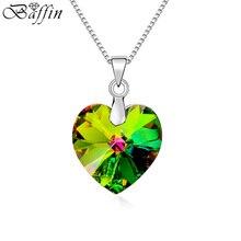 BAFFIN fait avec des éléments SWAROVSKI cristal coeur pendentif colliers pour les femmes mode Collier Joyas fête des mères cadeau