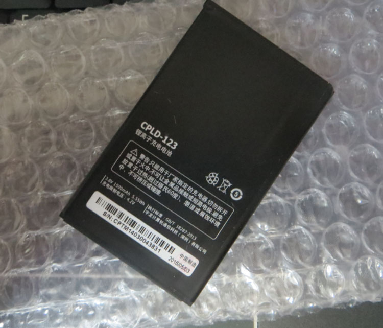 For Coolpad High Quality Original CPLD-123 battery 5200 5200S mobile phone battery 1500mah Replaceme