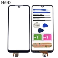 6 26 touch screen panel for xiaomi redmi 7 touch screen panel digitizer sensor front glass phone replace tools 3m glue wipes