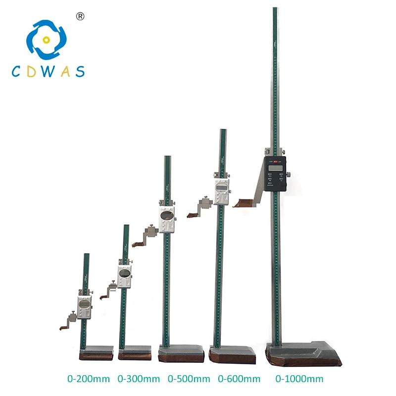 Купить с кэшбэком Digital Height Gauge 0-300 200 500 600 1000 Caliper Stainless steel electronic digital Height vernier caliper Measurement Tool