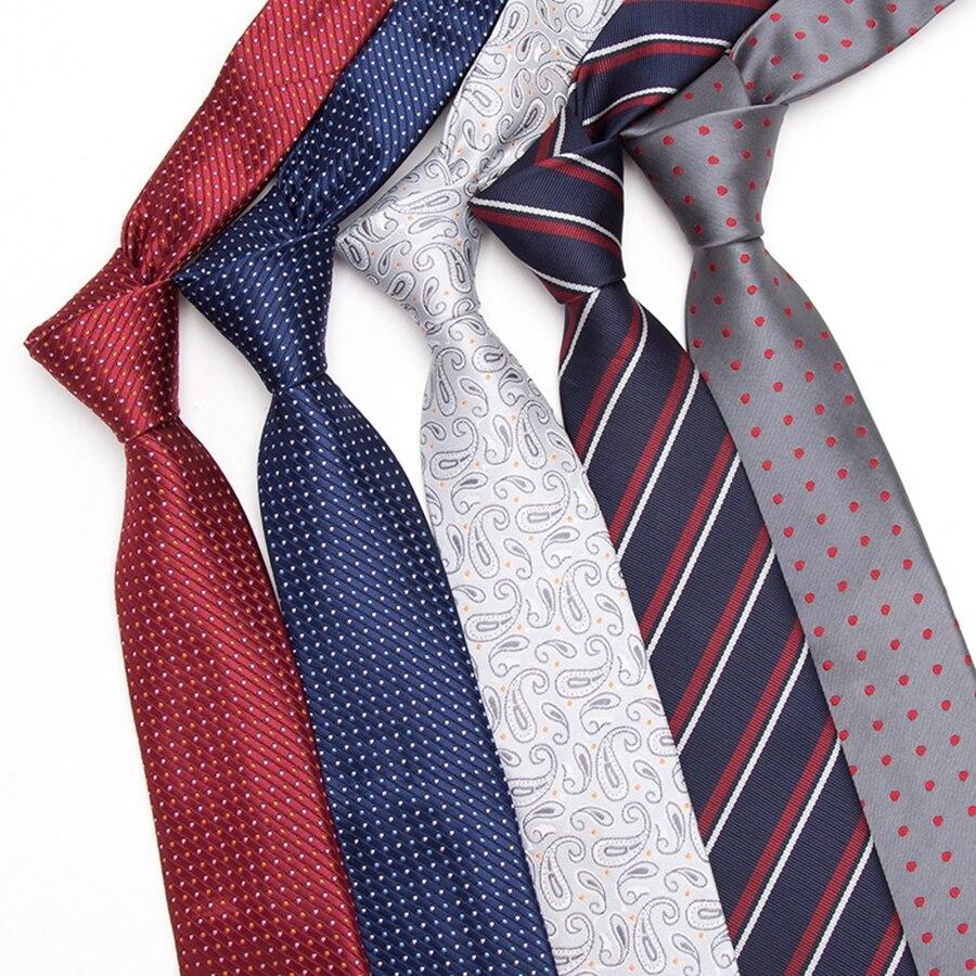 Мужской галстук 7 см тонкие галстуки мужские новые модные галстуки в горошек Галстуки жаккардовые галстуки тонкий галстук деловой мужской ...