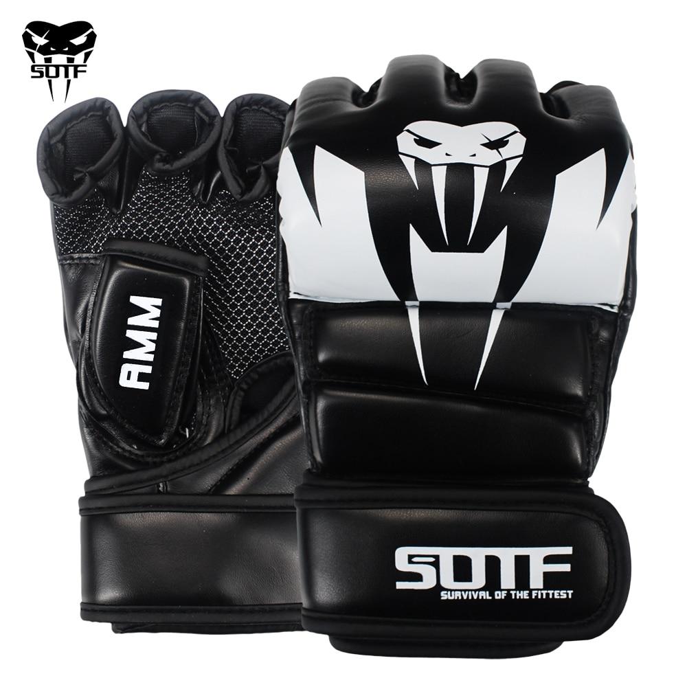 SOTF-قفازات ملاكمة للبالغين MMA ، ثعبان ، متعدد الألوان ، قفازات الملاكمة التايلاندية ، Muay Thai ، علبة وسادات