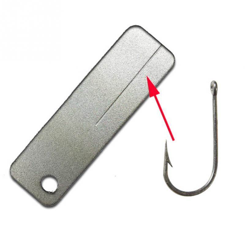 1 шт. Открытый Мини Кемпинг Whet камень точилка-брелок рыболовный крючок файл