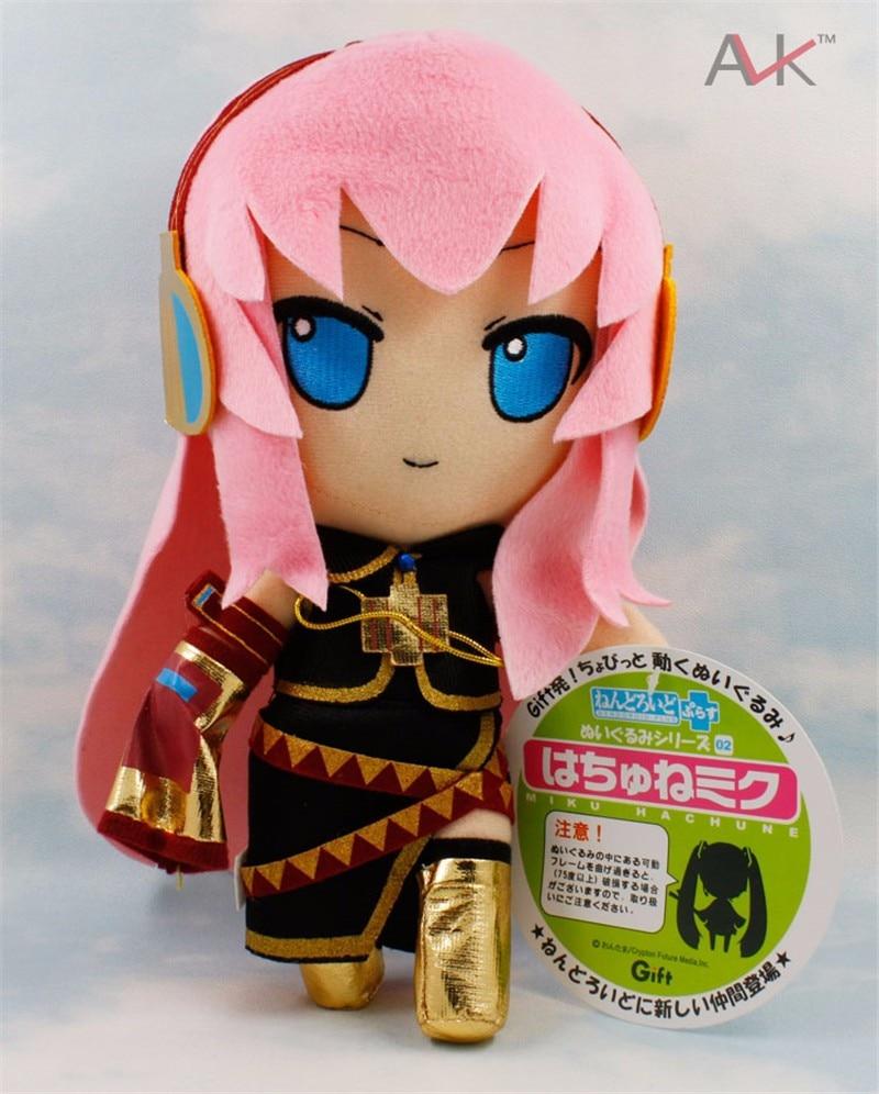 27 cm Hatsune Miku Vocaloid Megurine Luka felpa juguete Anime dibujos animados suave muñeca de peluche para regalo de niña